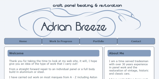 Adrian Breeze site image