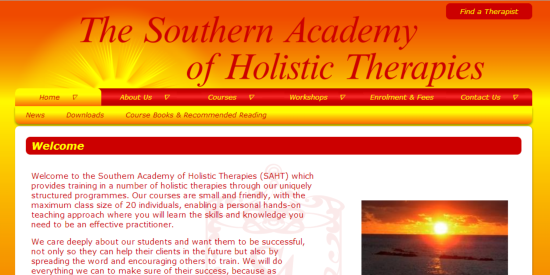 Southern Academy of Holistic Therapies site image